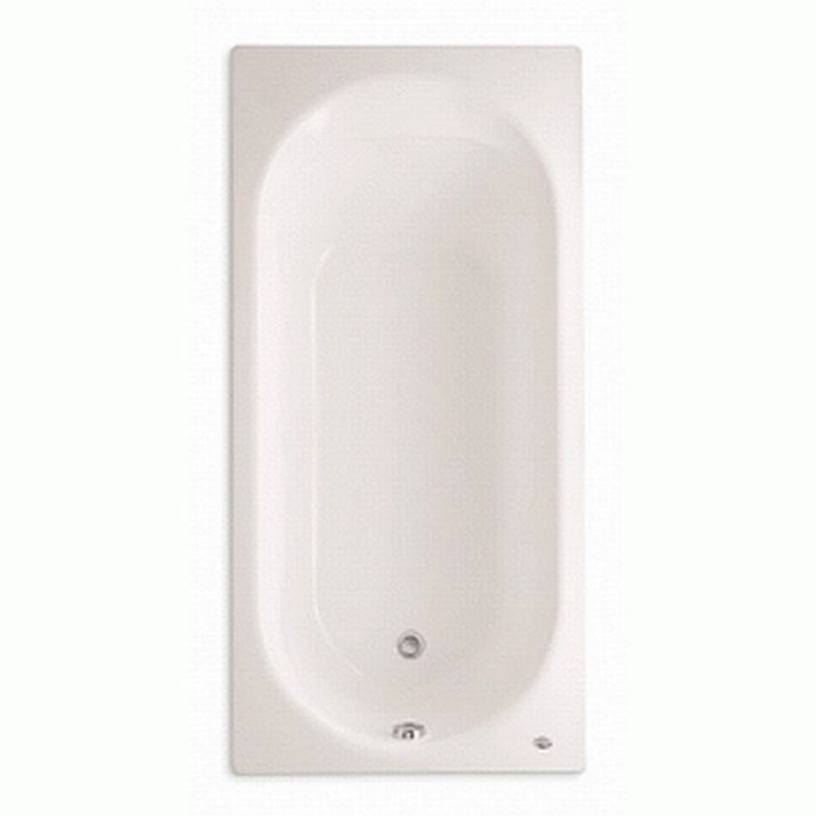 American Standard Stratford Linen Porcelain Enameled Steel Oval In Rectangle Drop-in Bathtub with Reversible Drain (Common: 32-in x 66-in; Actual: 20-in x 32-in x 66-in)