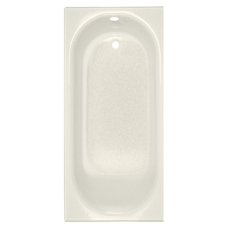 American Standard Princeton 60-in Linen Porcelain Enameled Steel Alcove Bathtub with Left-Hand Drain