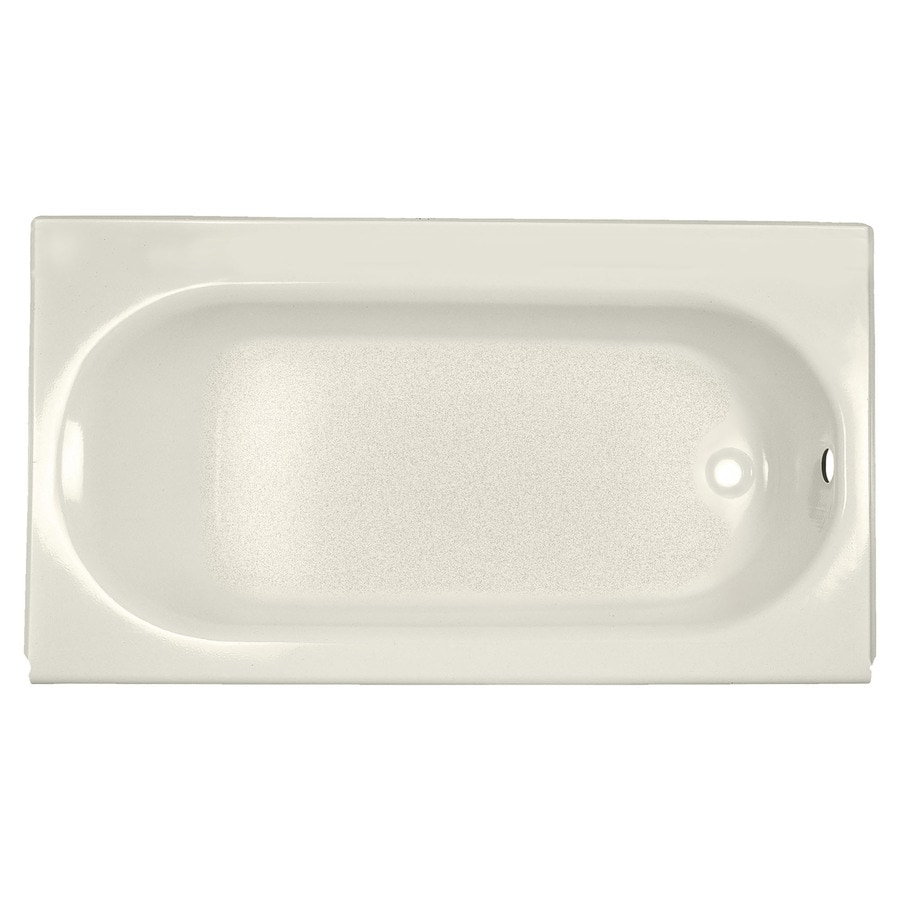 American Standard Princeton Linen Porcelain Enameled Steel Rectangular Skirted Bathtub with Right-Hand Drain (Common: 34-in x 60-in; Actual: 14-in x 34-in x 60-in