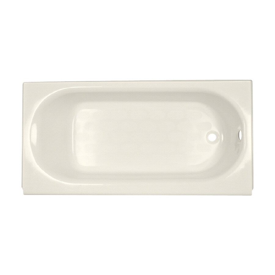 American Standard Princeton Linen Porcelain Enameled Steel Rectangular Skirted Bathtub with Right-Hand Drain (Common: 34-in x 60-in; Actual: 17.5-in x 34-in x 60-in)