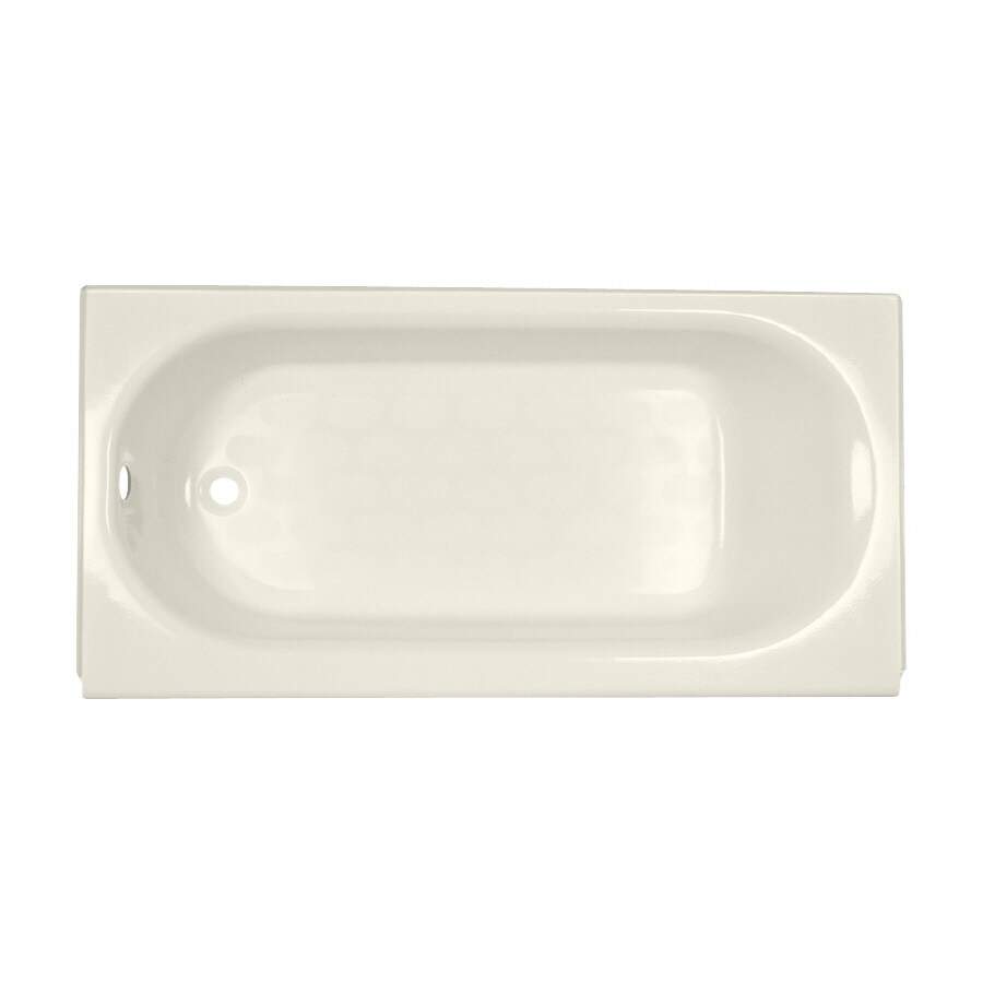 American Standard Princeton Linen Porcelain Enameled Steel Rectangular Skirted Bathtub with Left-Hand Drain (Common: 34-in x 60-in; Actual: 17.5-in x 34-in x 60-in)