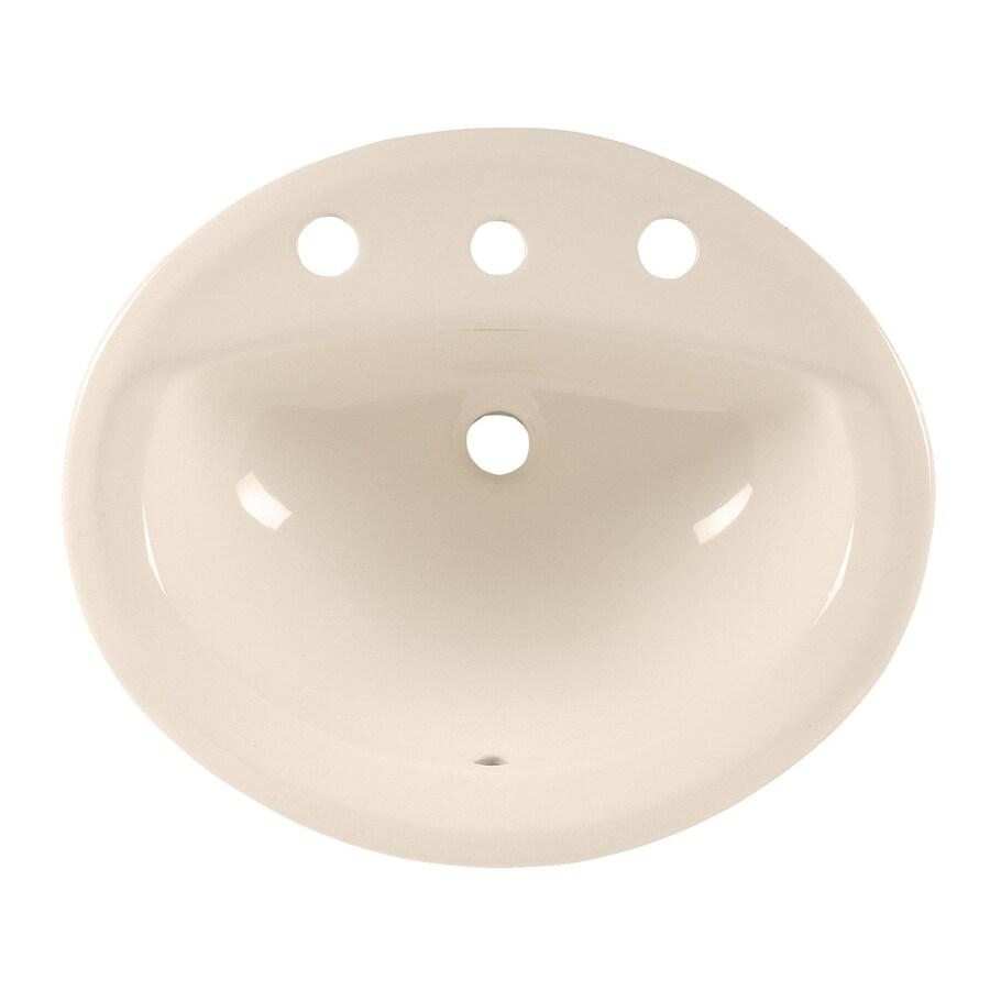 American Standard Linen Drop-in Oval Bathroom Sink with Overflow