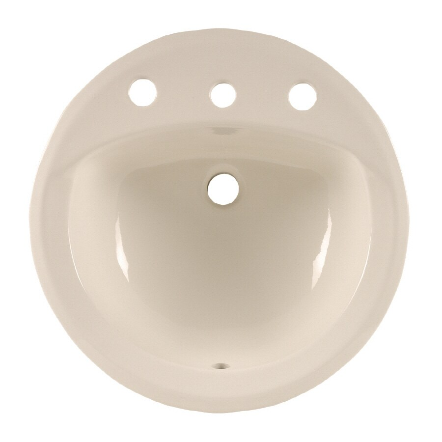 American Standard Rondalyn Linen Drop-In Round Bathroom Sink with Overflow