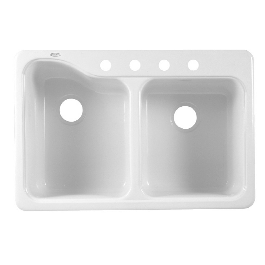 Shop American Standard Double-Basin Porcelain Kitchen Sink at Lowes.com