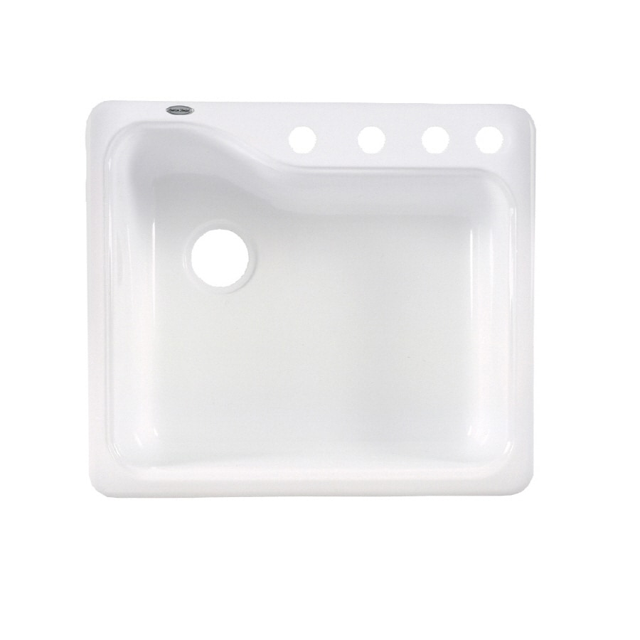 american standard silhouette single basin drop in or undermount porcelain kitchen sink shop american standard silhouette single basin drop in or      rh   lowes com