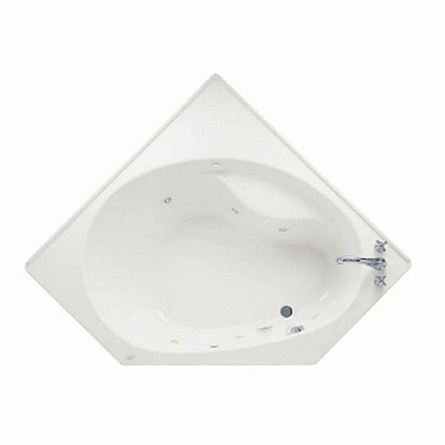Kohler corner tubs with jets - American Standard Scala White Acrylic Corner Dropin Bathtub With Righthand Drain