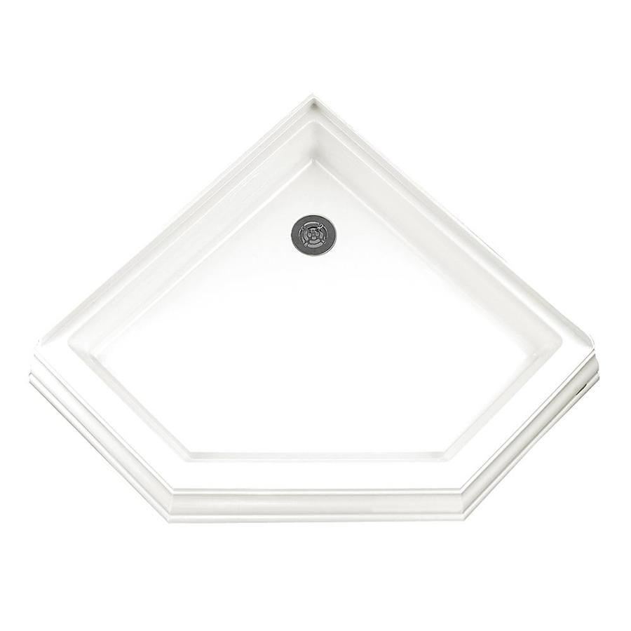 American Standard 42.25-in L x 42.125-in W White Acrylic Neo-Angle Corner Shower Base