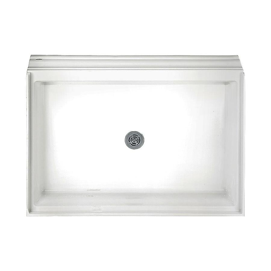 American Standard White Acrylic Shower Base (Common: 34-in W x 60-in L; Actual: 34.125-in W x 60.125-in L)