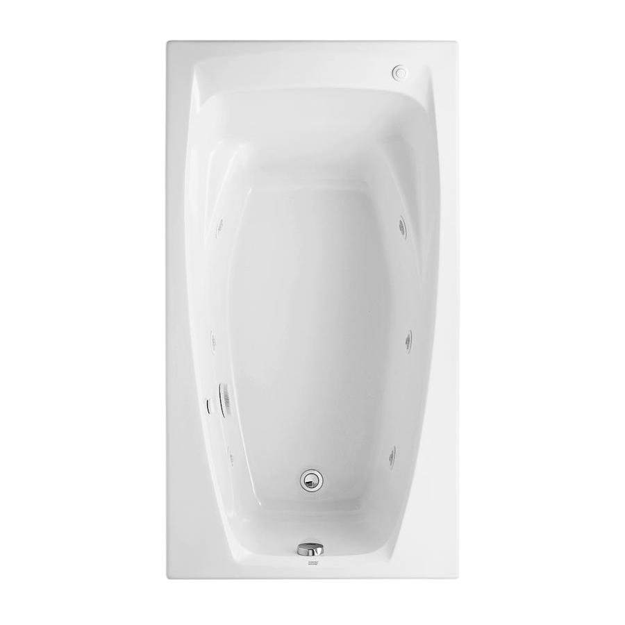 American Standard Colony 60-in White Acrylic Drop-In Whirlpool Tub with Reversible Drain