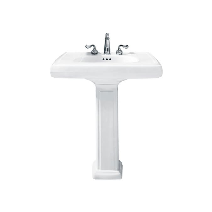 American Standard Heritage White Complete Pedestal Sink In The Pedestal Sinks Department At Lowes Com