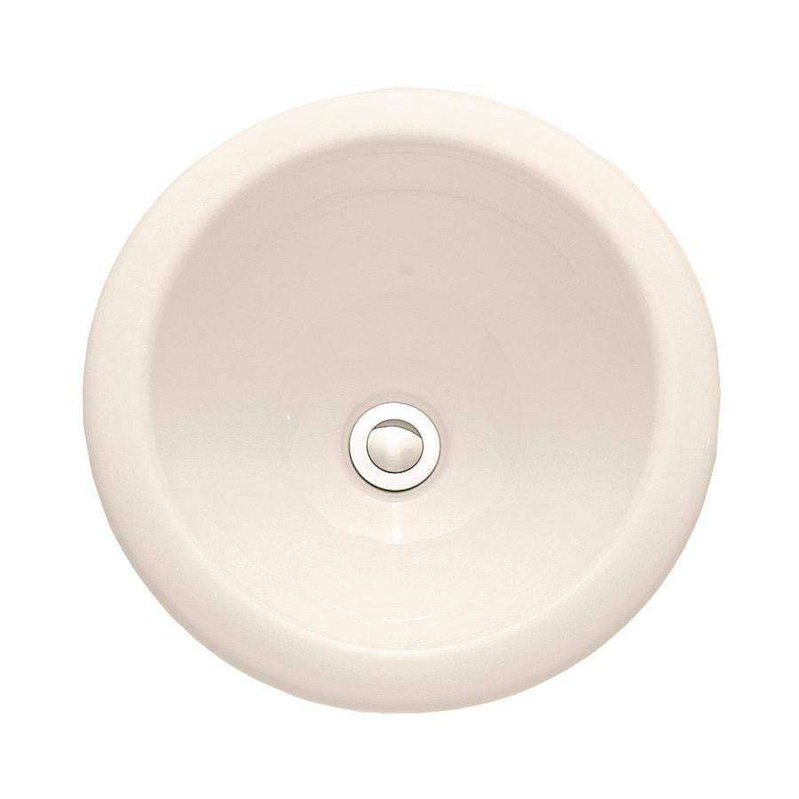 American Standard White Drop-in Round Bathroom Sink with Overflow