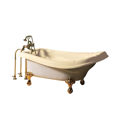 American Standard 72 X 37 Reminiscence Bone Oval Clawfoot Tub At