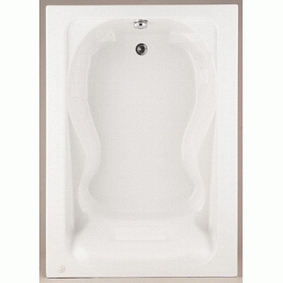 American Standard Cadet White Acrylic Hourglass In Rectangle Drop-in Bathtub with Reversible Drain (Common: 42-in x 60-in; Actual: 19.75-in x 42-in x 60-in)
