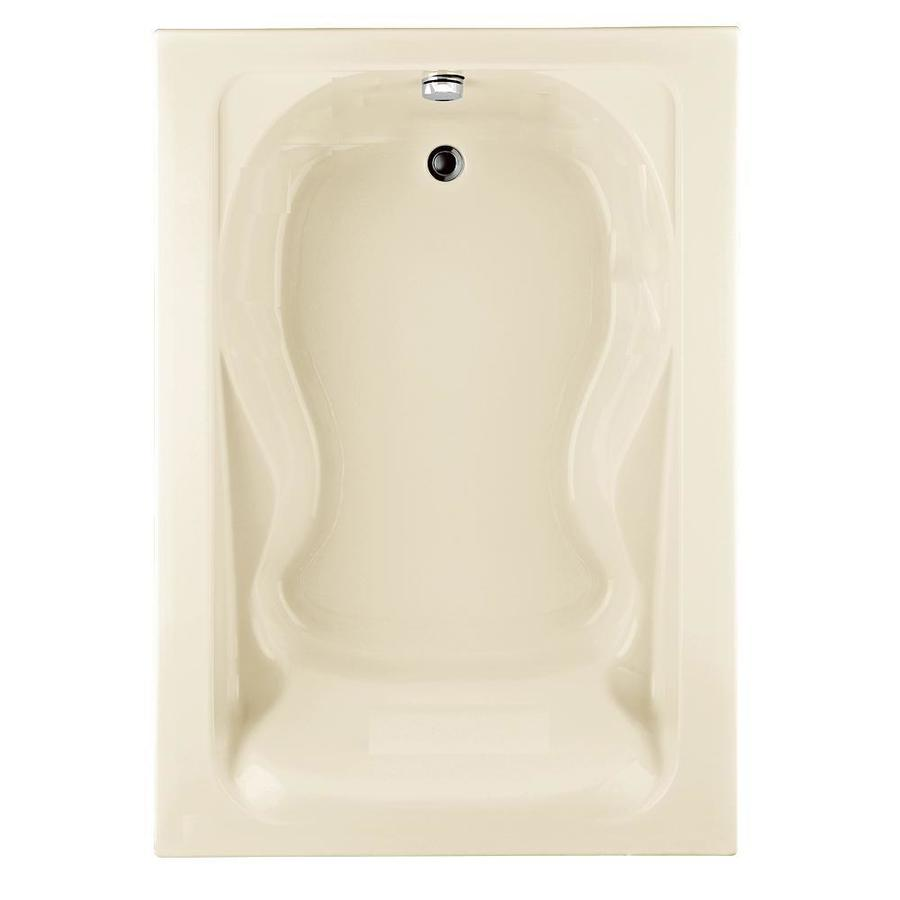 American Standard Cadet 60-in Linen Acrylic Drop-In Bathtub with Reversible Drain
