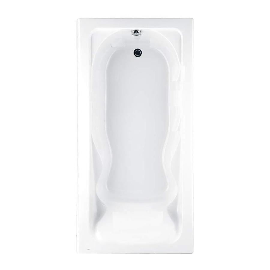American Standard Cadet Acrylic Rectangular Drop-in Bathtub with Reversible Drain (Common: 36-in x 72-in; Actual: 19.75-in x 35.75-in x 72-in)