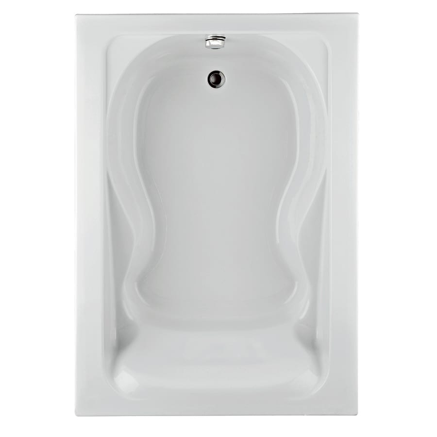 American Standard Cadet Acrylic Hourglass In Rectangle Drop-in Bathtub with Reversible Drain (Common: 42-in x 72-in; Actual: 19.75-in x 42-in x 72-in)