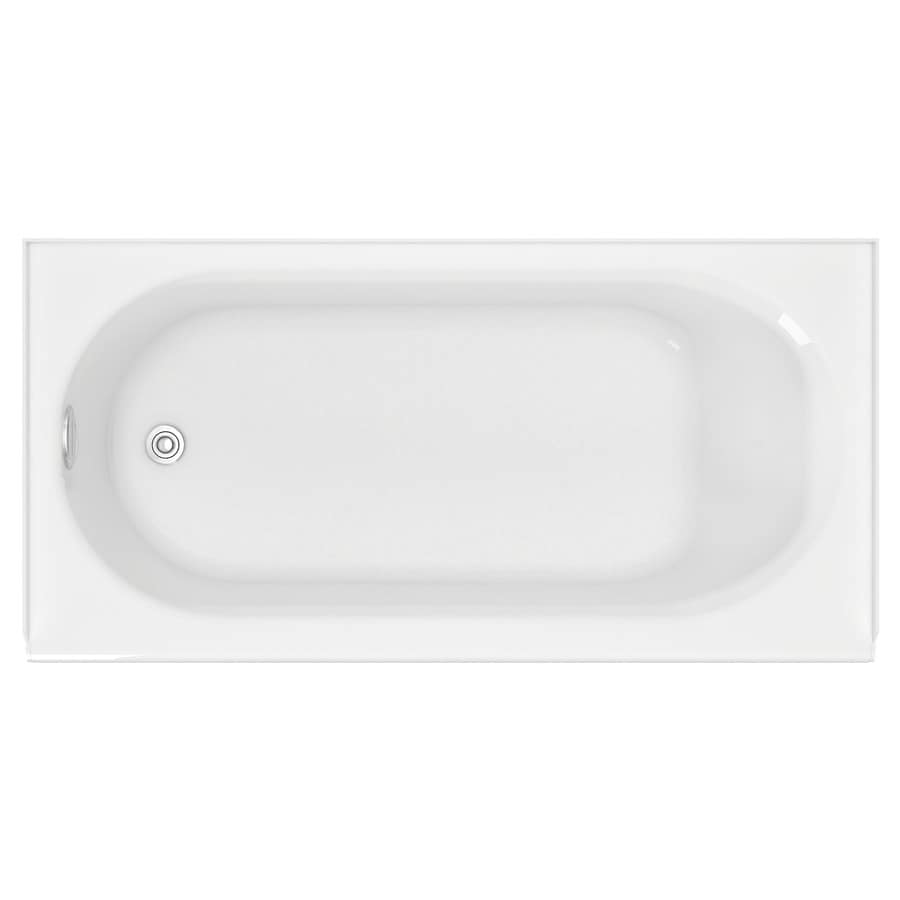 American Standard Princeton 60 In White Porcelain Enameled Steel Skirted  Bathtub With Left Hand