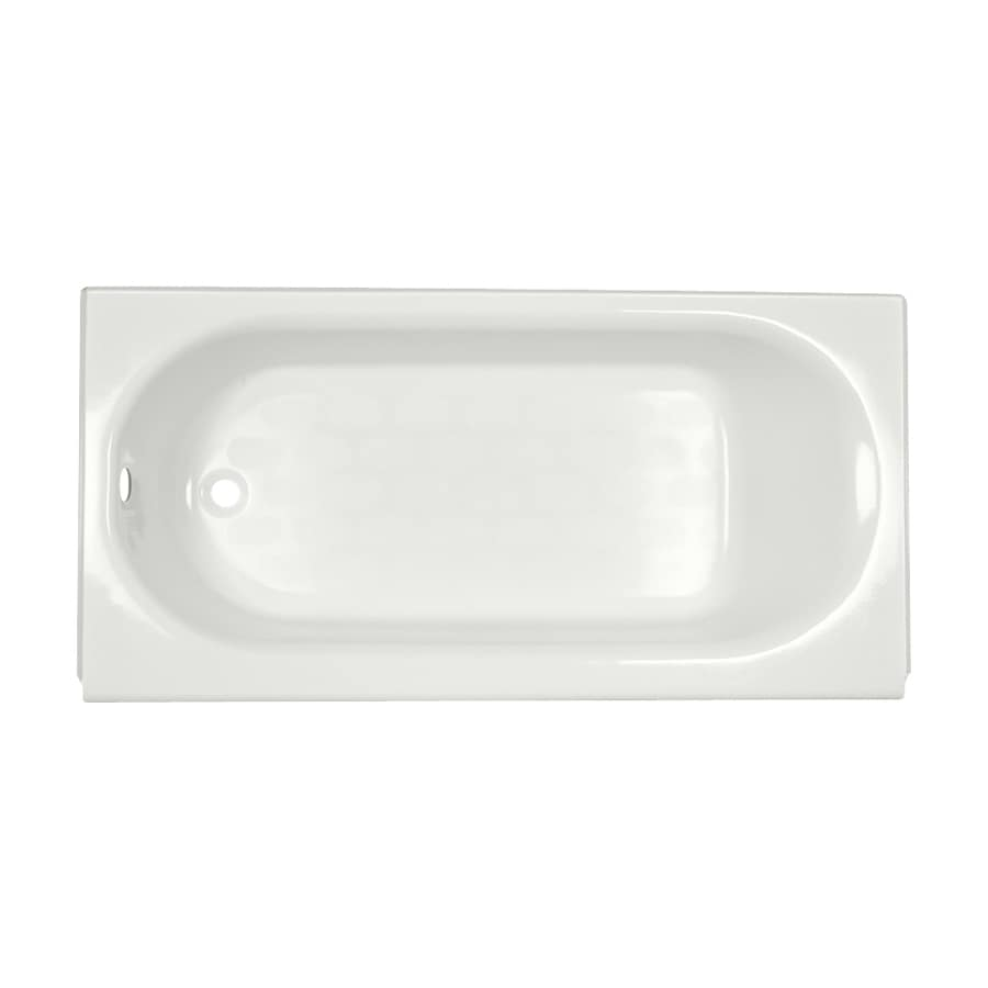 American Standard Princeton 60-in White Porcelain Enameled Steel Alcove Bathtub with Left-Hand Drain