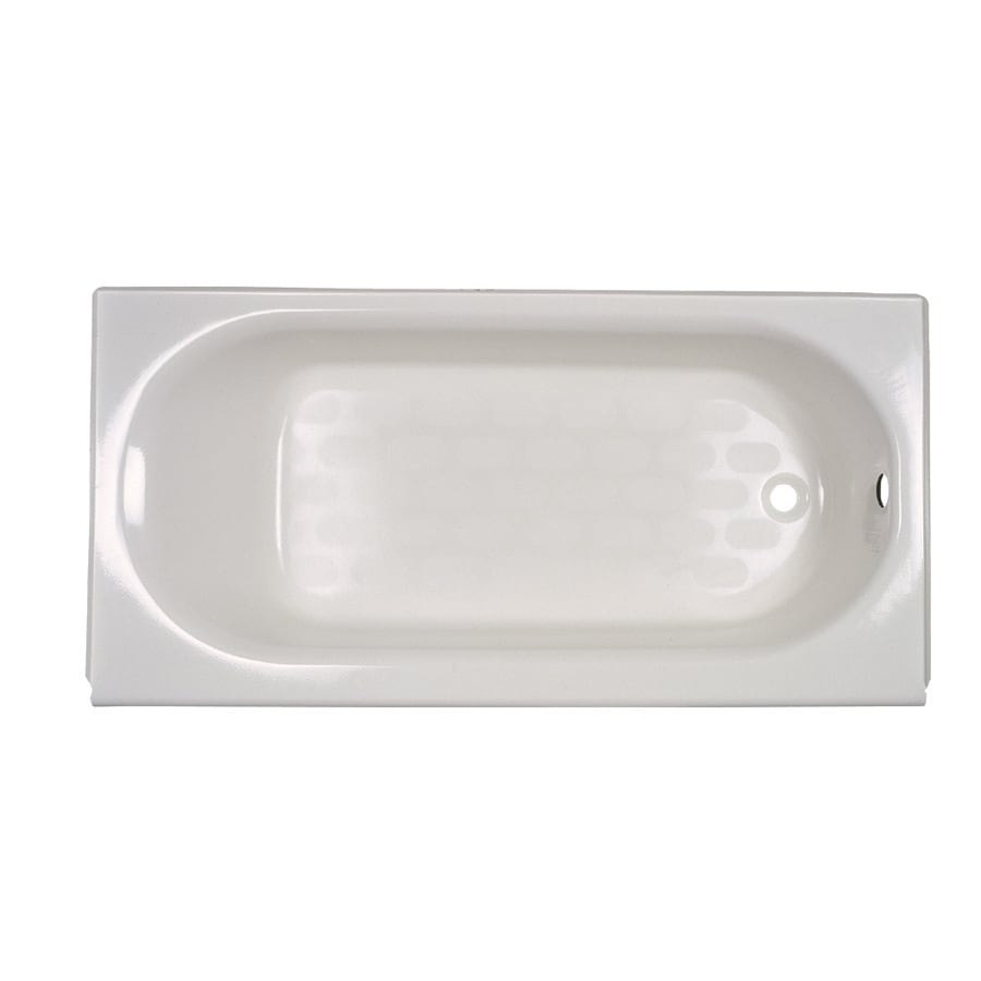 Charmant American Standard Princeton 60 In White Porcelain Enameled Steel Oval In  Rectangle Right Hand