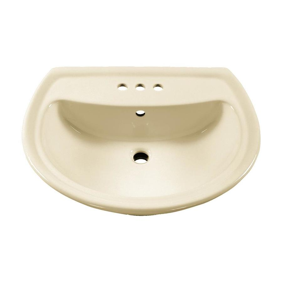 American Standard Pedestal Sink Lowes : American Standard Cadet 25.25-in L x 21.5-in W Linen Vitreous China ...