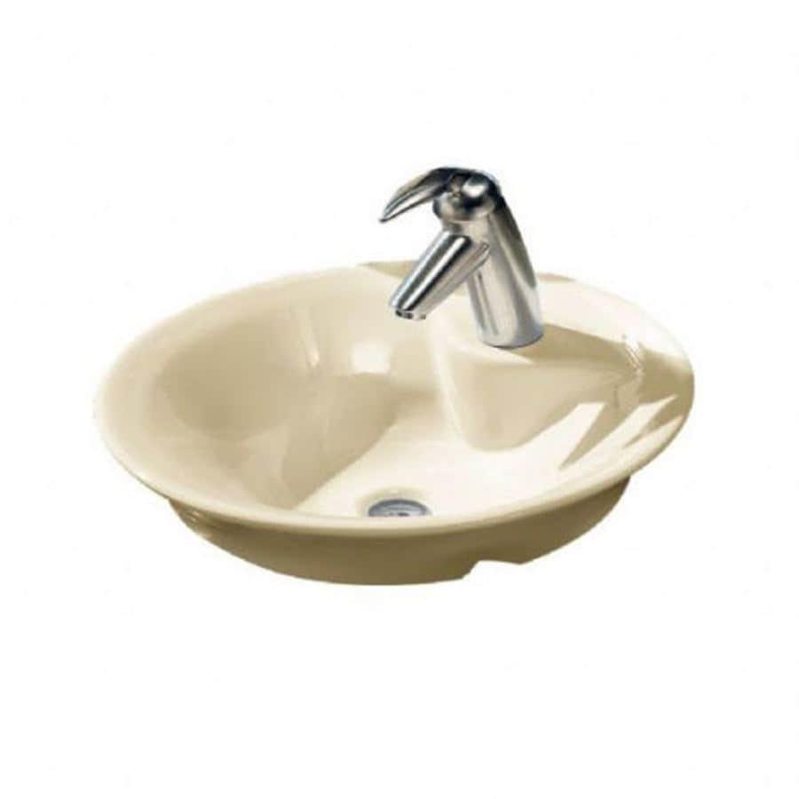 American Standard Linen Vessel Round Bathroom Sink At