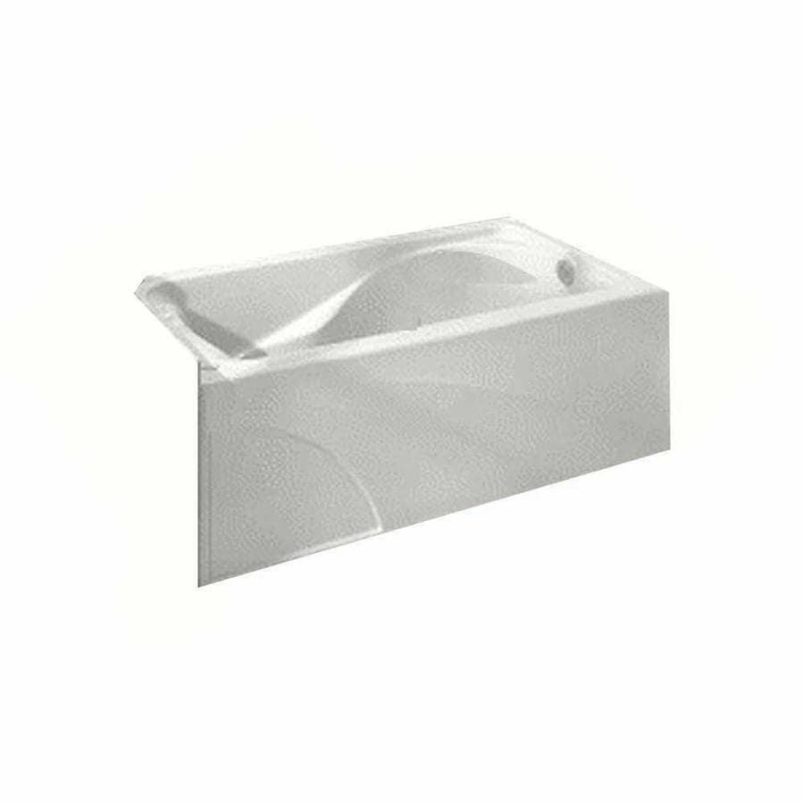 American Standard Cadet 59.875-in White Acrylic Alcove Bathtub with Left-Hand Drain