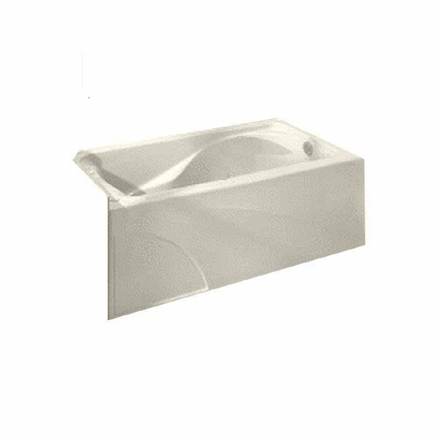 American Standard Cadet Linen Acrylic Hourglass In Rectangle Skirted Bathtub with Left-Hand Drain (Common: 32-in x 60-in; Actual: 19.75-in x 32-in x 60-in)