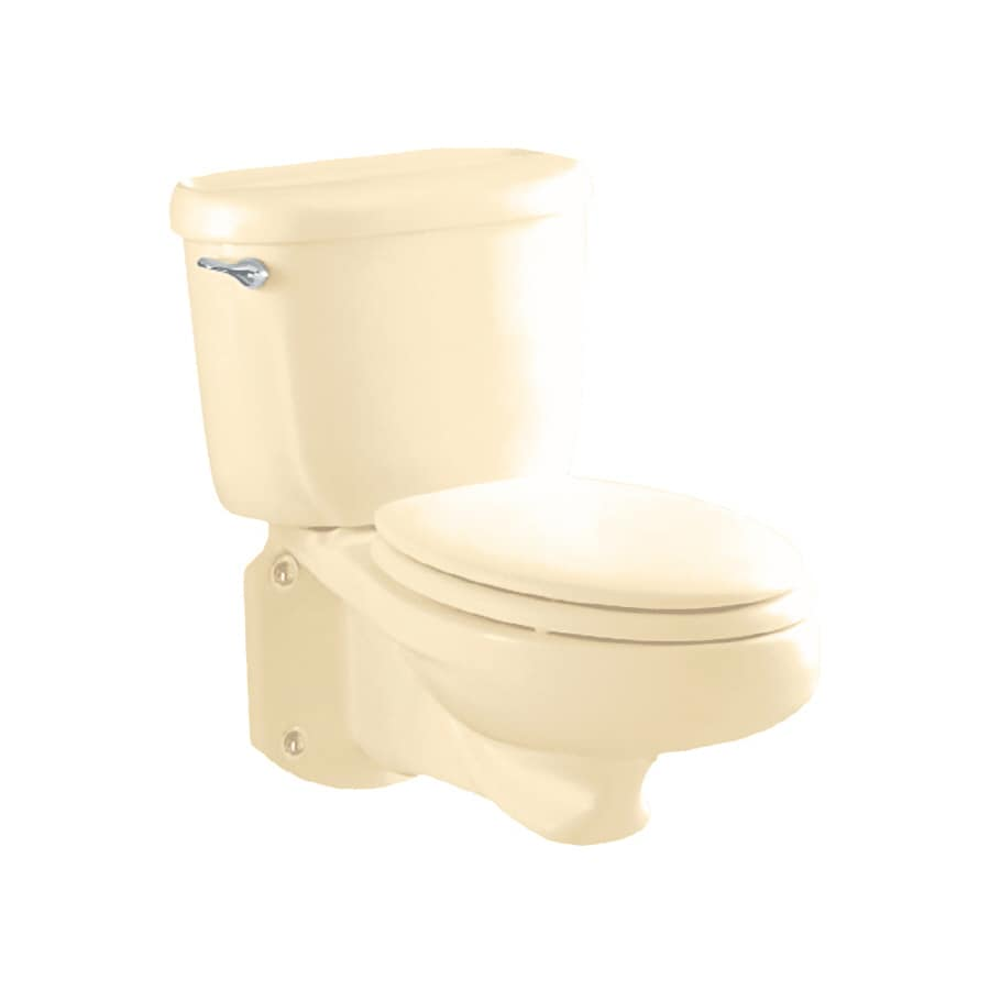American Standard Glenwall Bone Elongated Standard Height Toilet Bowl