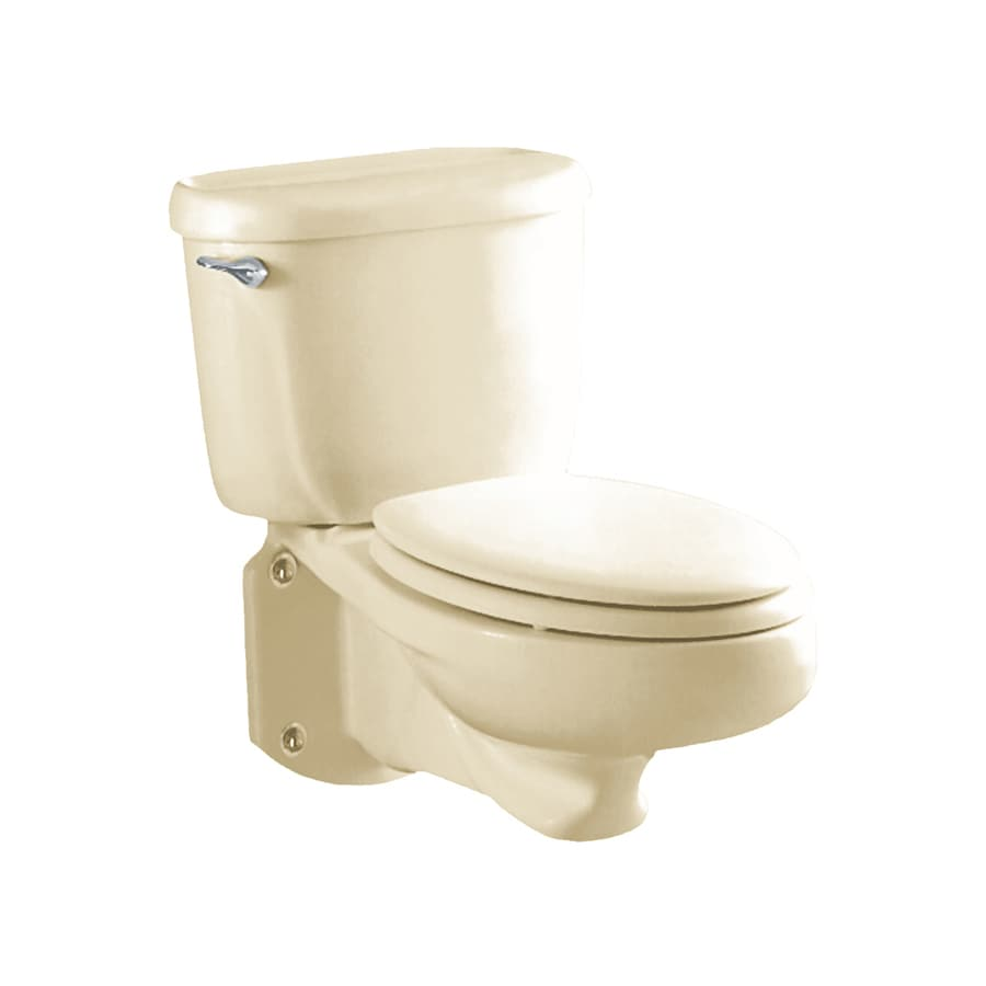American Standard Glenwall Standard Height Linen Wall-Hung Rough-In Pressure Assist Elongated Toilet Bowl