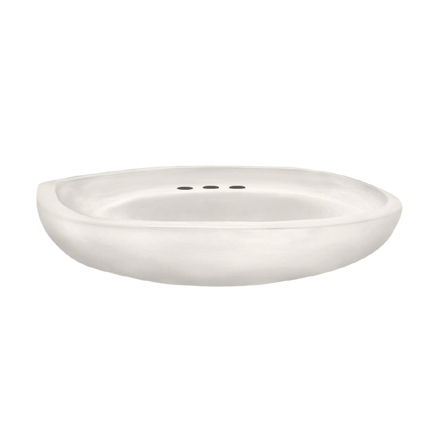 American Standard 20-in L x 23-3/4-in W Colony White Vitreous China Oval Pedestal Sink Top