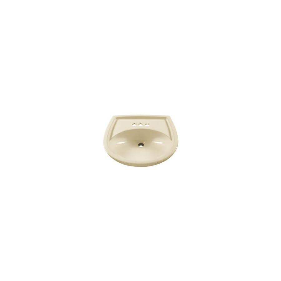 American Standard 18-1/2-in L x 21-1/4-in W Colony Linen Vitreous China Oval Pedestal Sink Top