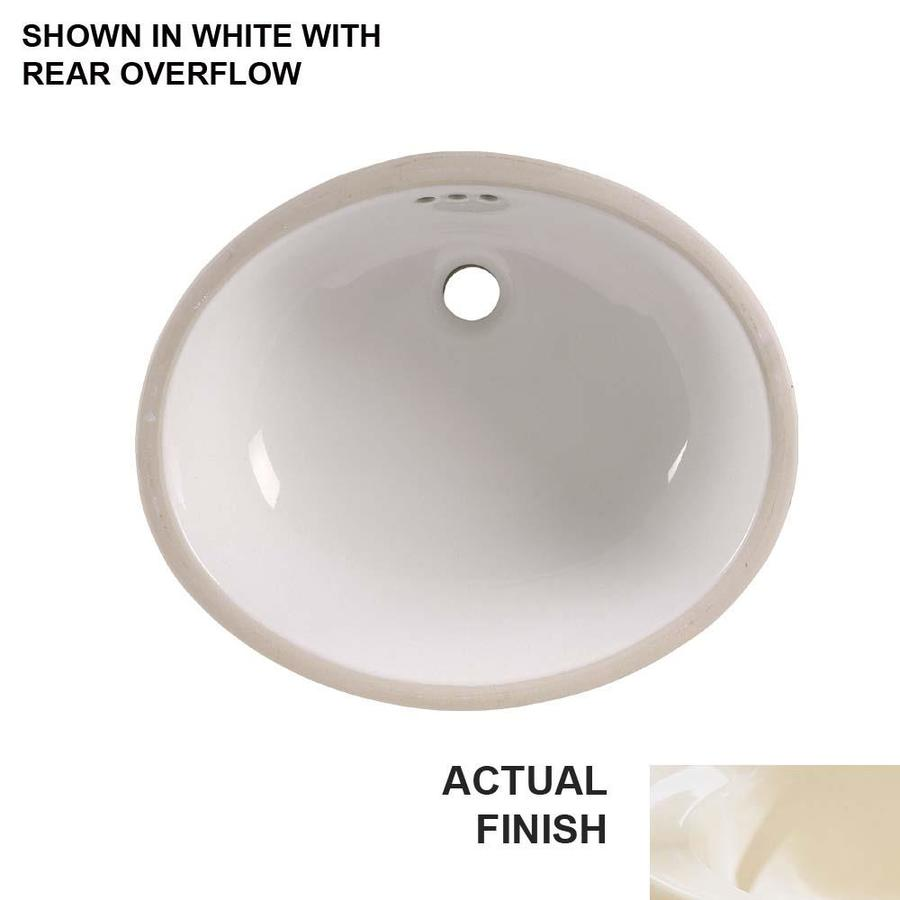 Shop American Standard Linen Undermount Oval Bathroom Sink With Overflow At