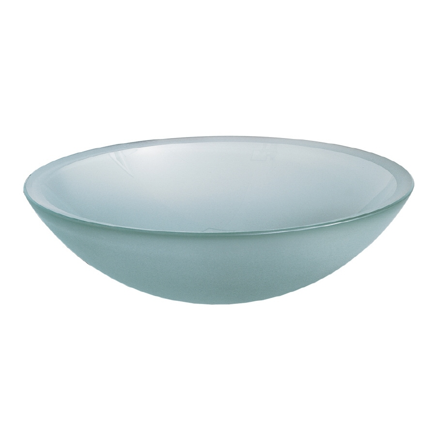 American Standard Frosted Glass Vessel Round Bathroom Sink (Drain Included)