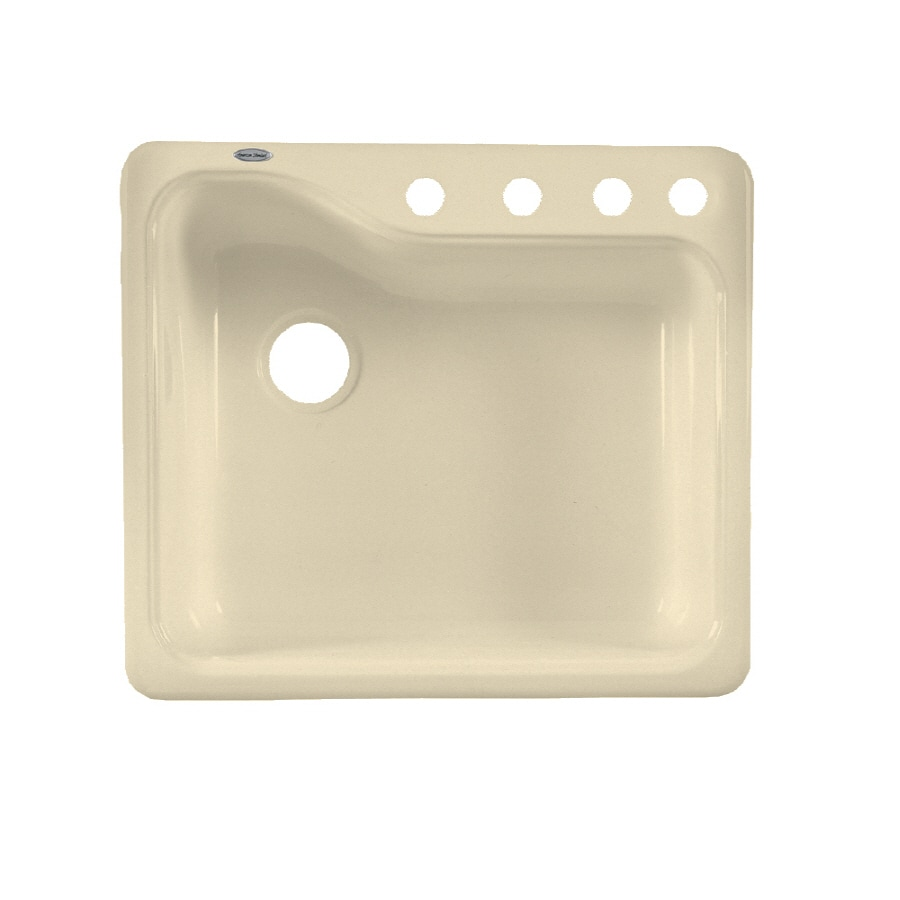 American Standard Silhouette Single Basin Drop In Or Undermount Porcelain  Kitchen Sink