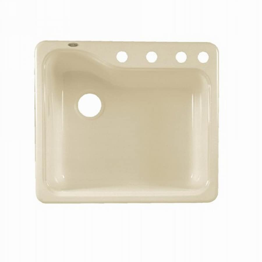 american standard silhouette 25 in x 22 in bisque single basin porcelain drop shop american standard silhouette 25 in x 22 in bisque single      rh   lowes com