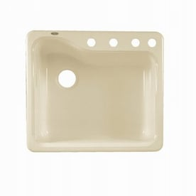 American Standard Silhouette 25 In X 22 In Bisque Single Basin Porcelain  Drop