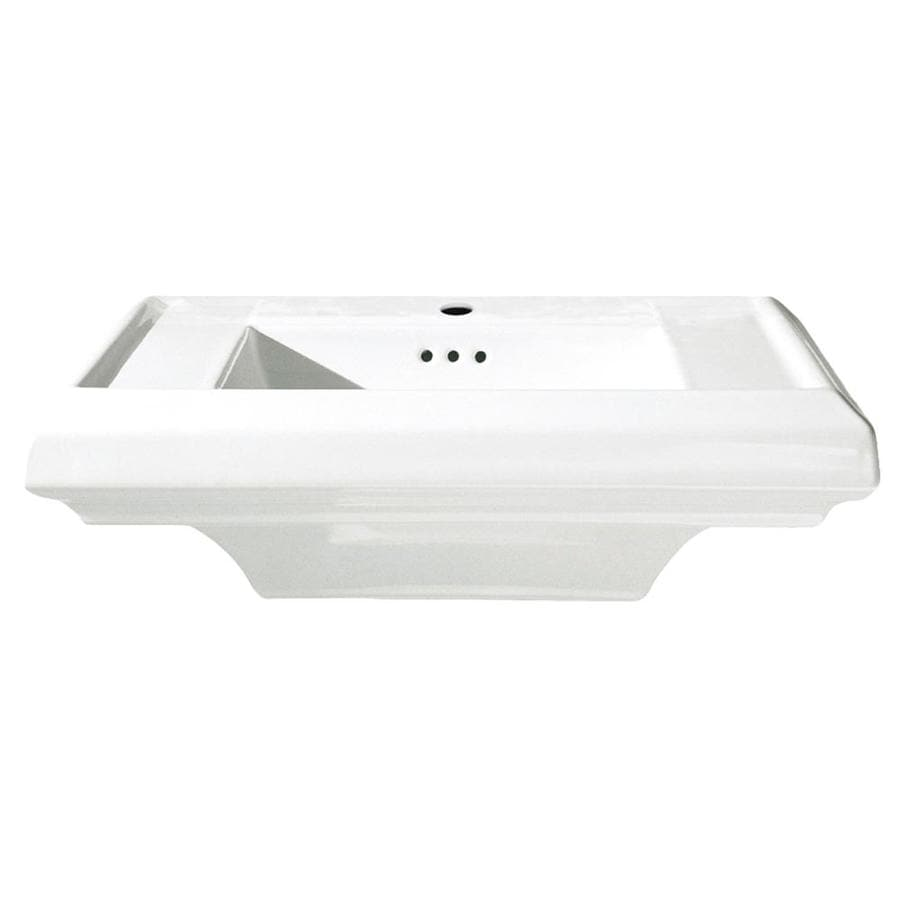 American Standard Town Square 25-in L x 10.37-in W White Fire Clay Rectangular Pedestal Sink Top
