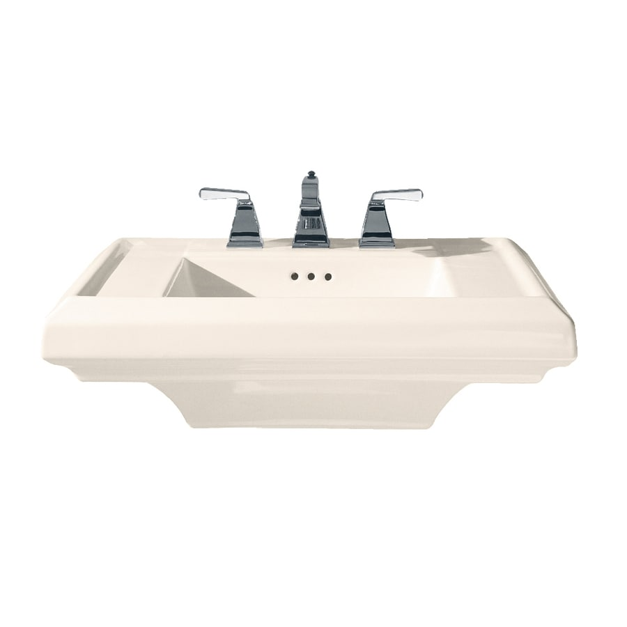 American Standard Town Square 25-in L x 10.37-in W Linen Fire Clay Rectangular Pedestal Sink Top