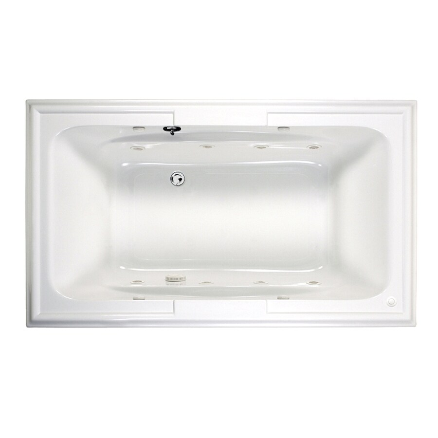 Shop American Standard Town Square 71.5-in White with Back Center ...