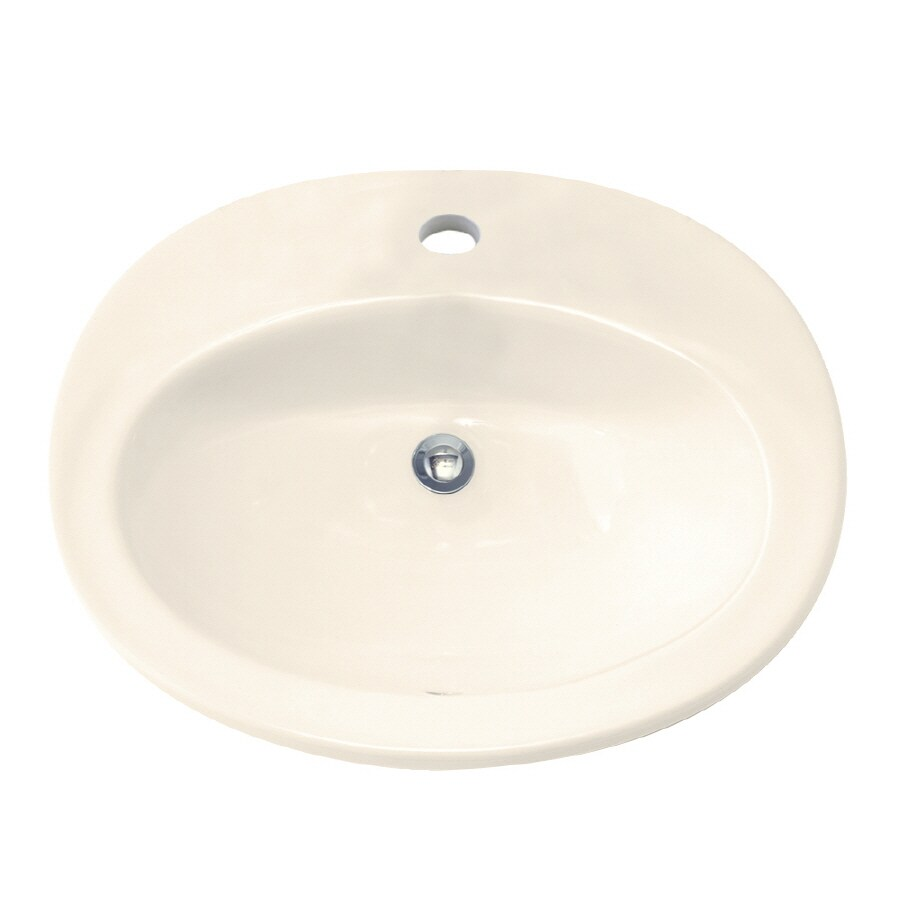 American Standard Linen Drop-in Oval Bathroom Sink with Overflow
