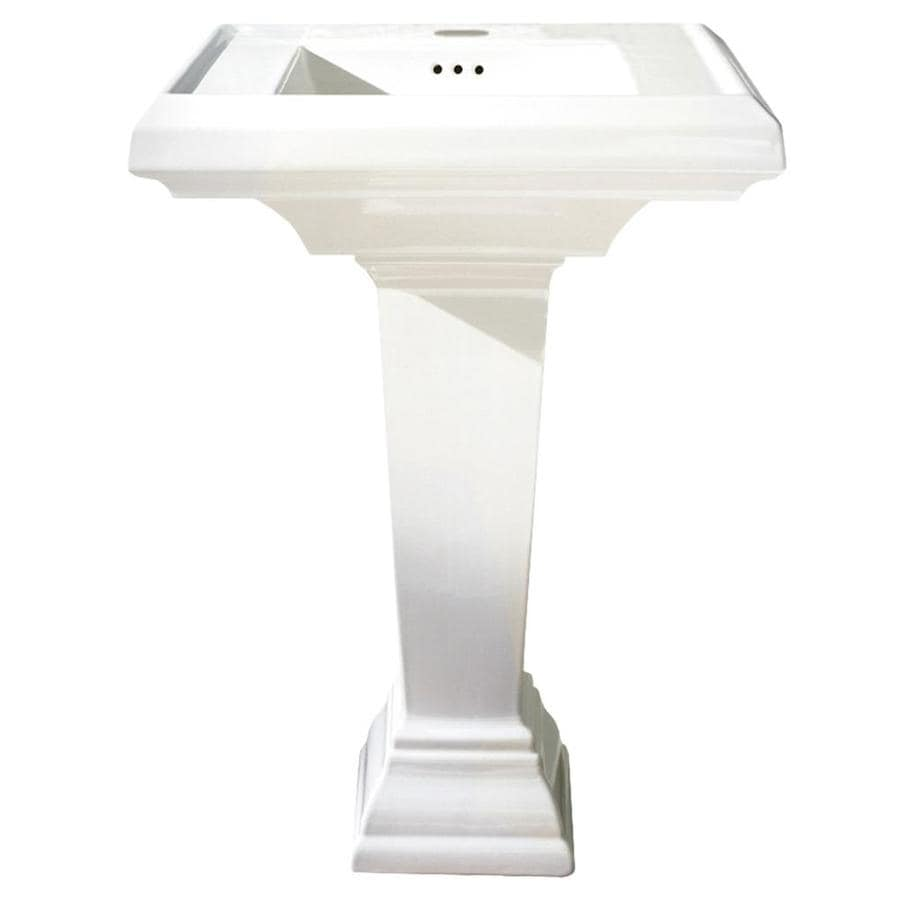 American Standard Town Square 35.25-in H White Fire Clay Pedestal Sink