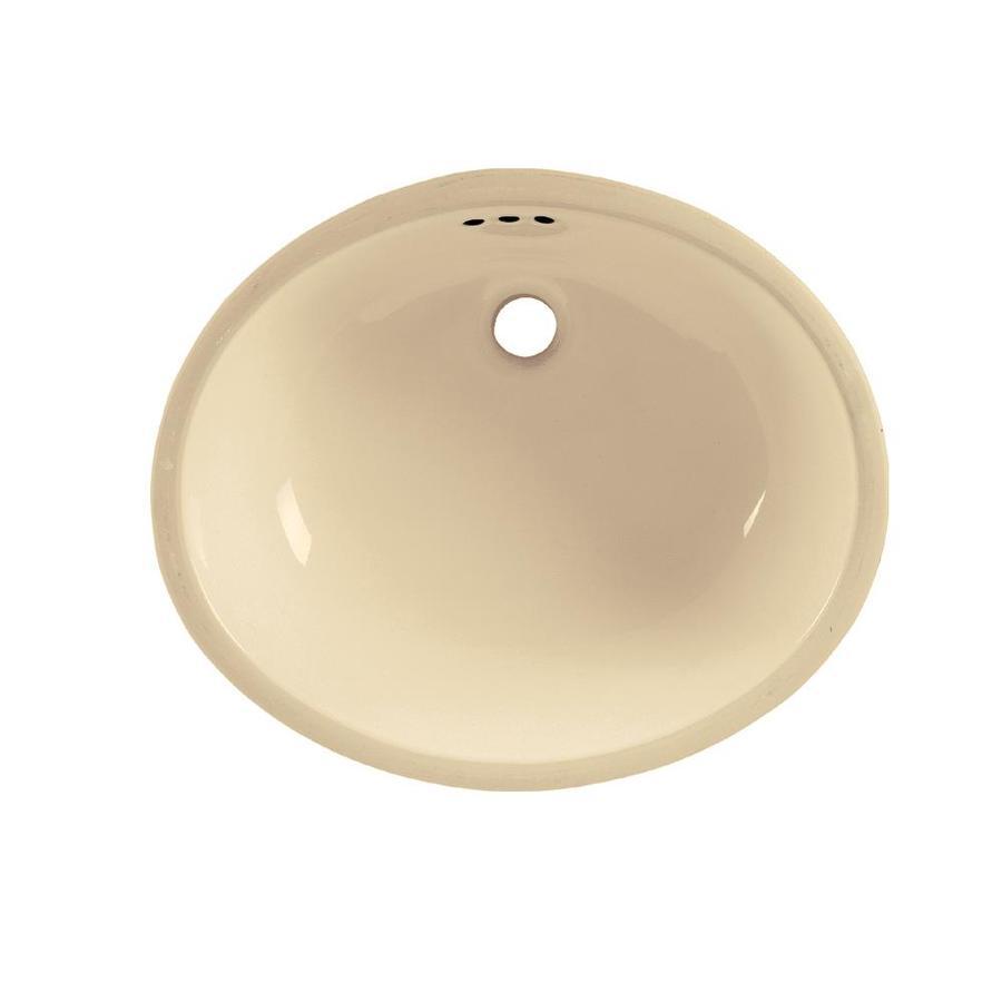 American Standard Bone Undermount Oval Bathroom Sink with Overflow