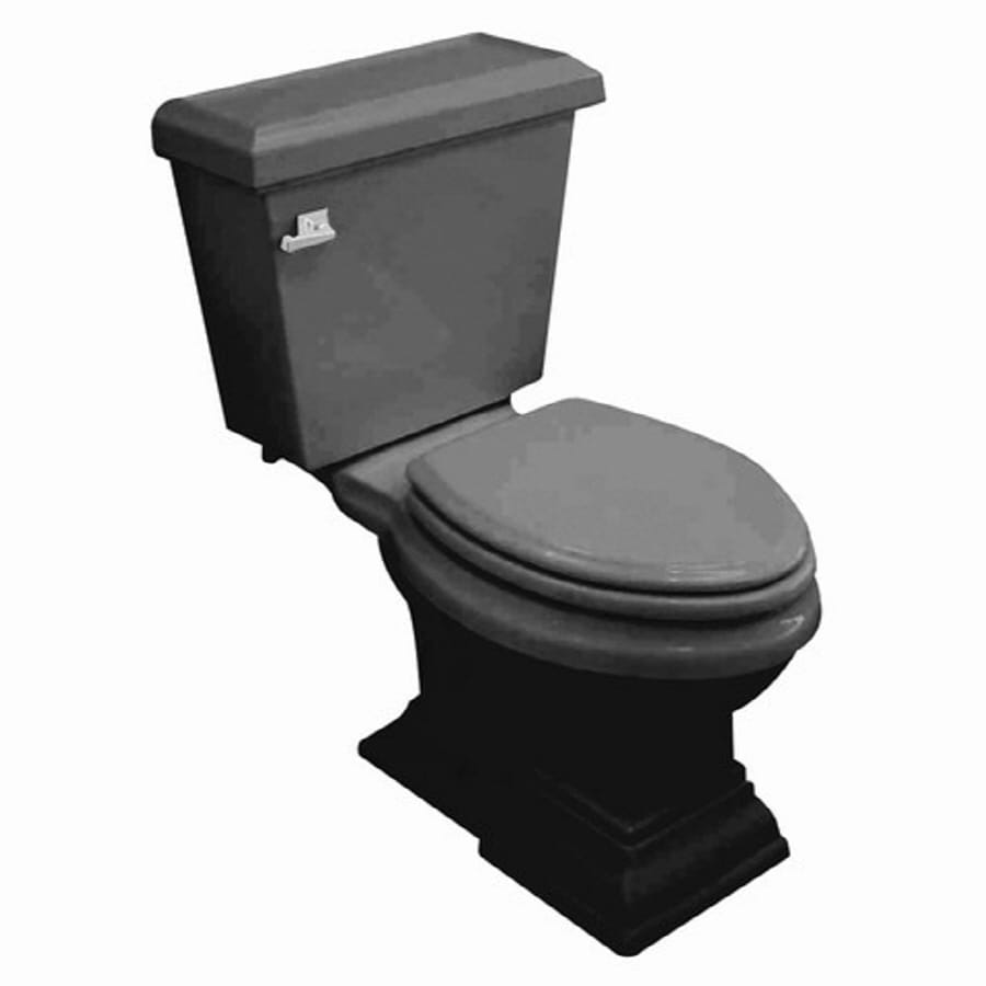 Shop American Standard Town Square Black Elongated Toilet at Lowes.com
