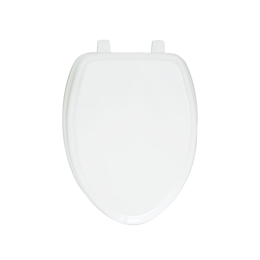 Shop American Standard White Wood Elongated Toilet Seat At