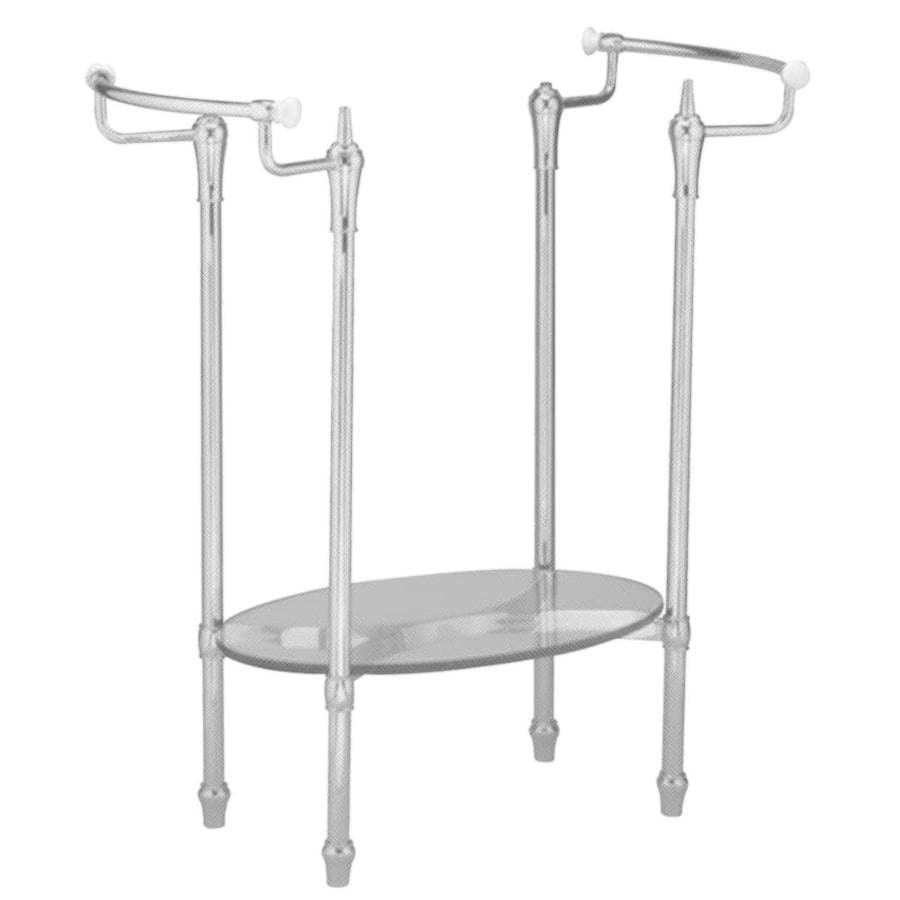 Shop american standard standard 29 in h satin nickel iron for Pedestal sink with metal legs