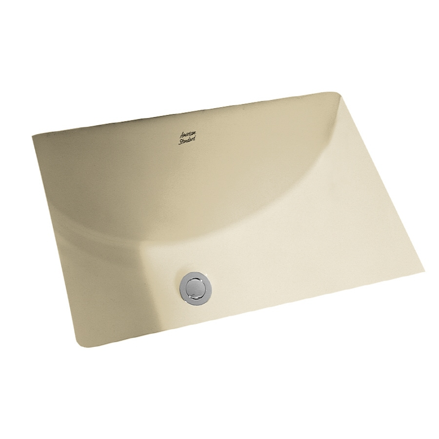 Shop american standard linen undermount rectangular for Bathroom undermount sinks