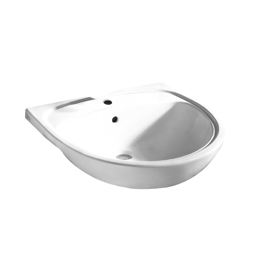 American Standard Mezzo White Drop-In Round Bathroom Sink with Overflow
