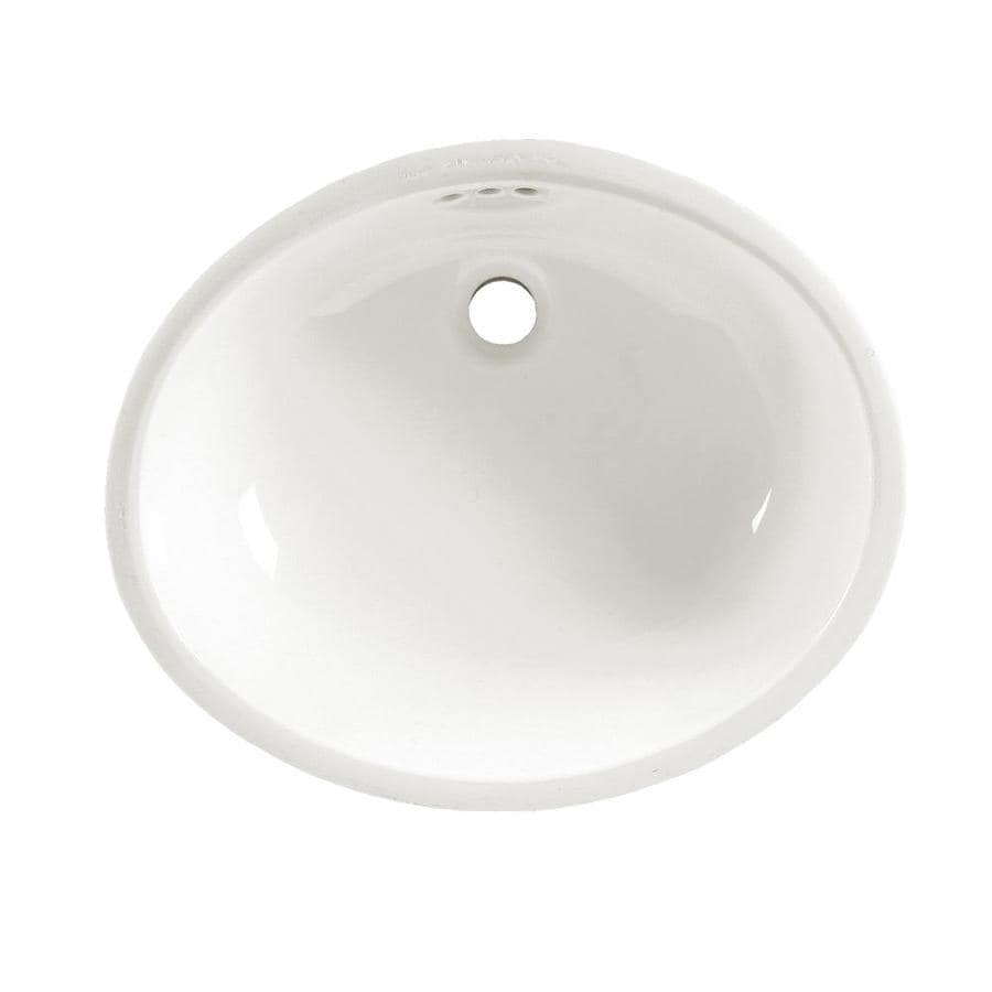 Shop American Standard White Undermount Oval Bathroom Sink With Overflow At
