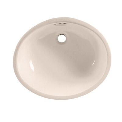 American Standard Bone Undermount Oval Bathroom Sink With