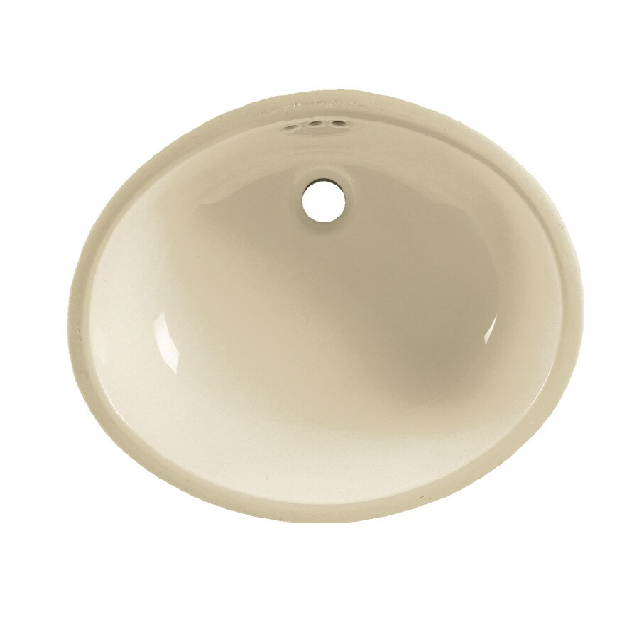American Standard Linen Undermount Oval Bathroom Sink with Overflow
